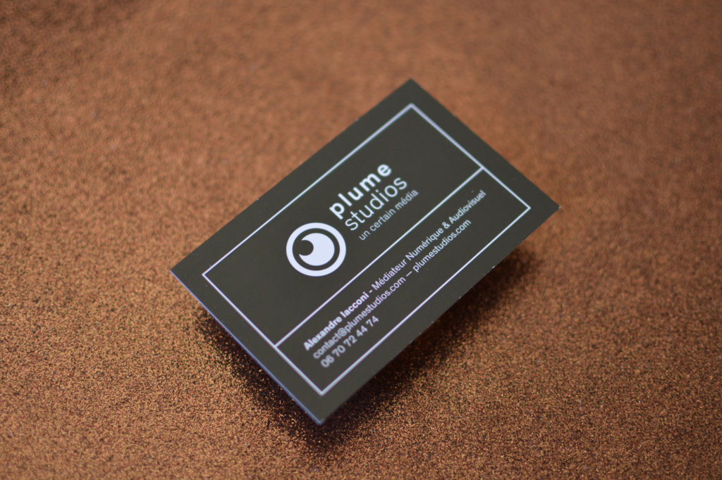 Plume Studio - buisiness card