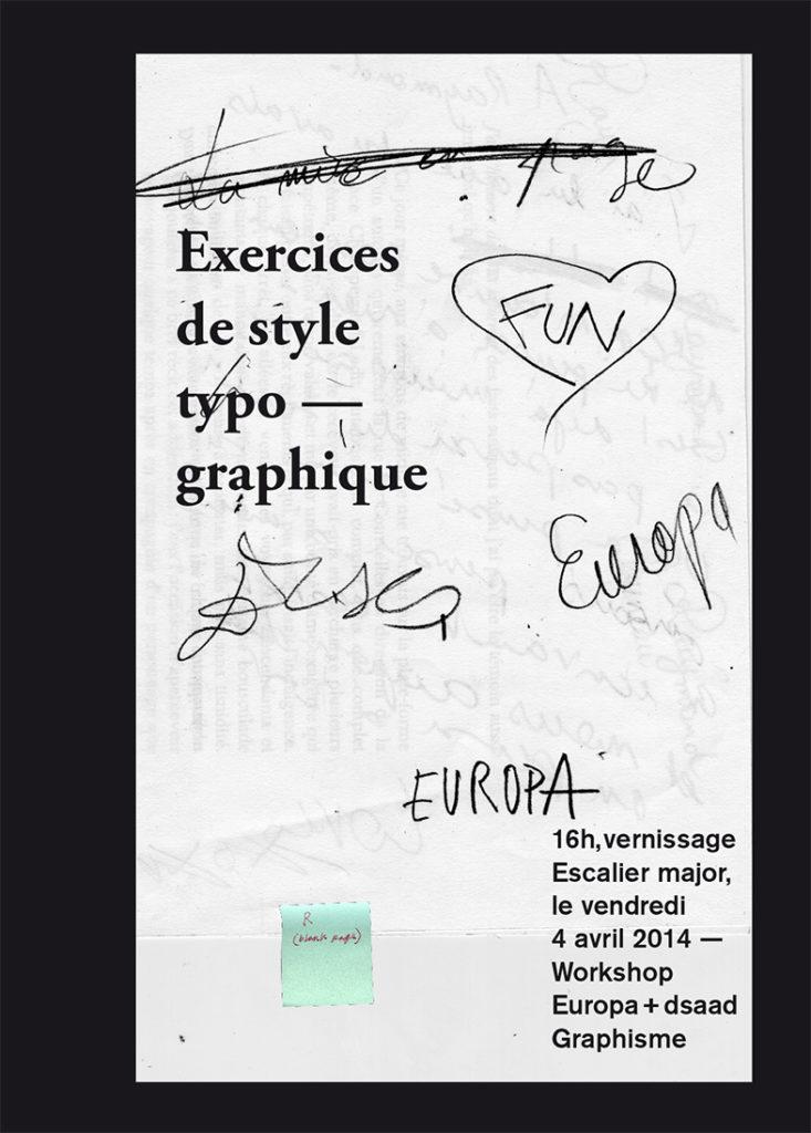 Exercices de style poster
