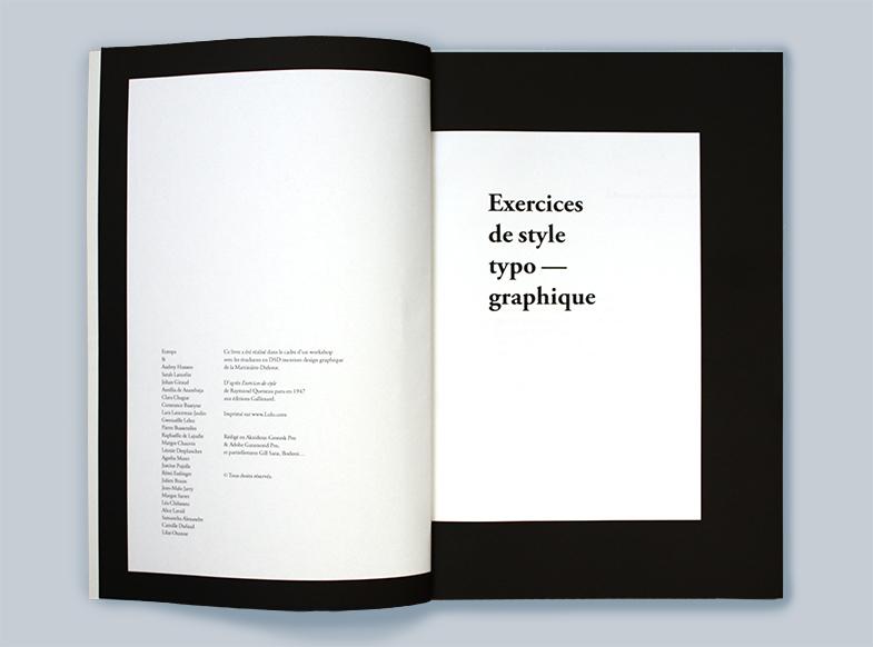 Exercices de style 2