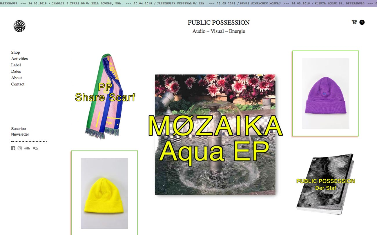 Poster Public Possession website