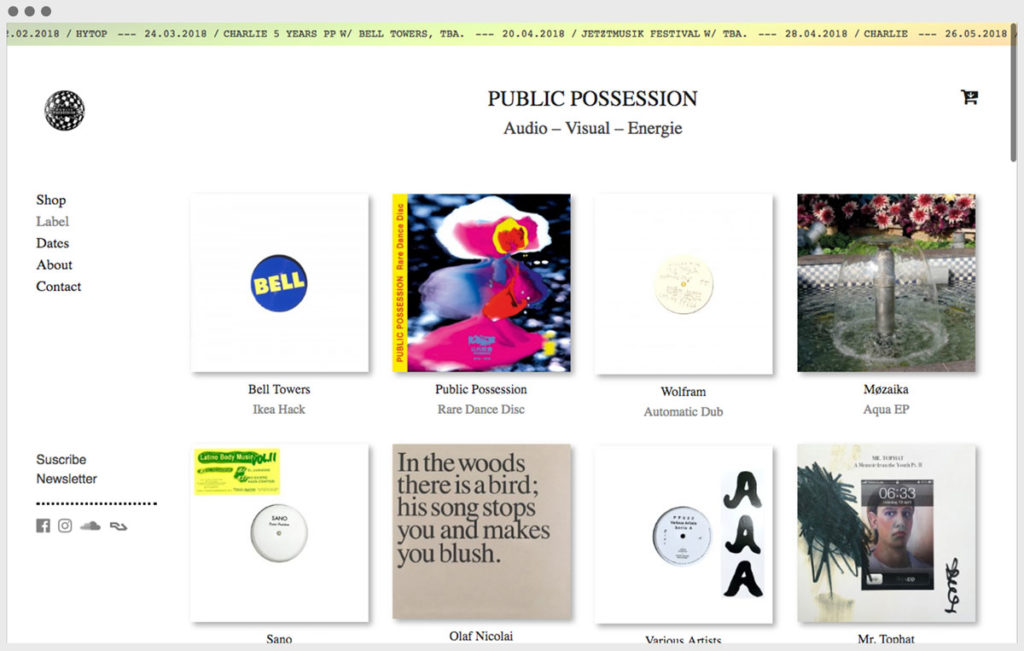 Screenshot Public Possession website 3