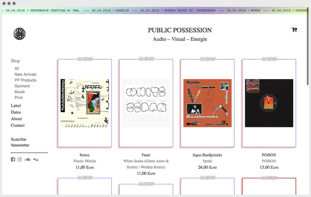 Screenshot Public Possession website 2