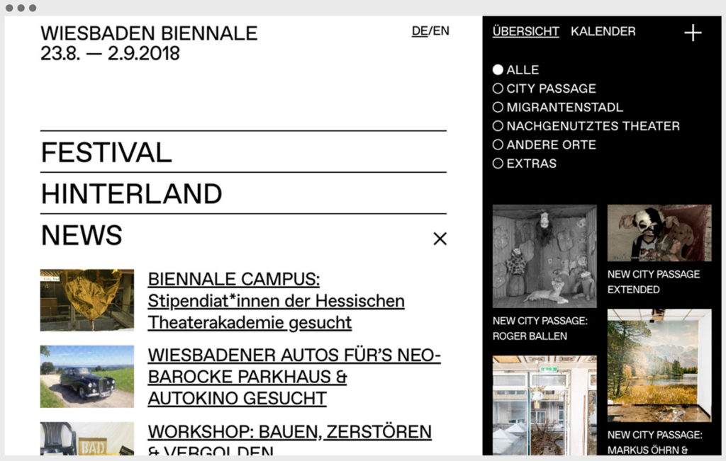 Screenshot Wiesbaden Biennale 2